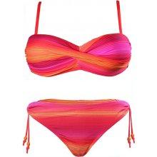 c1b867d13 Izzy dvoudílné plavky bandeau S913 oranžová zářivá