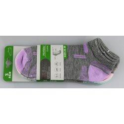 Pesail dámské kotníkové bavlněné ponožky melír 3 páry od 35 Kč ... db0ab0a18d
