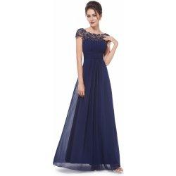 b551636098a Ever Pretty plesové šaty s krajkou 9993 tmavě modrá