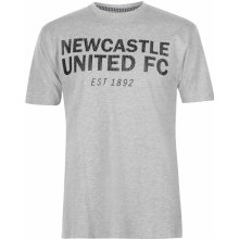 NUFC Est T Shirt Mens Grey Marl