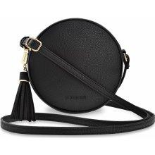 e7fca6c589 Monnari malá kulatá dámská kabelka listonoška přes rameno s třásněmi černá