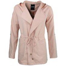 Hailys dámský jarní kabátek Daria tenčkot s kapucí růžový