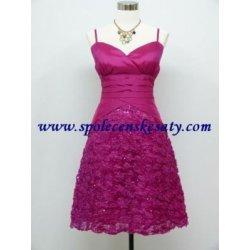5115853c7cbd Růžové fialové krátké společenské šaty koktejlky pro plnoštíhlé č.3345