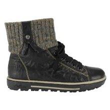 Rieker Kotníkové zimní boty s úpletem černé 6ee0501d631