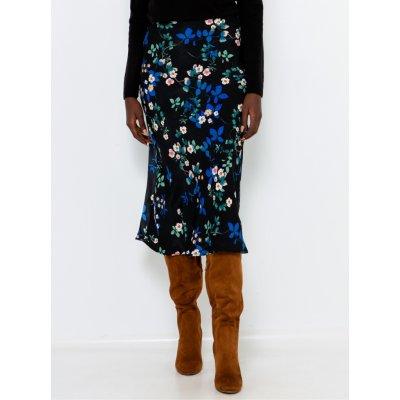 Camaieu květovaná sukně černá