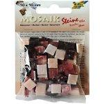 Folia Mozaika plastová 10 x 10 mm Mramorová Růžový mix