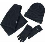 Urban Classics Klasický pletený set na zimu souprava černá 263339dd7b