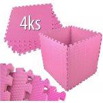 EVA Pěnový koberec 60x60cm Růžová 4 ks
