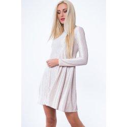 Rolákové áčkové krátké šaty s dlouhým rukávem béžová od 930 Kč ... 51188d54e0