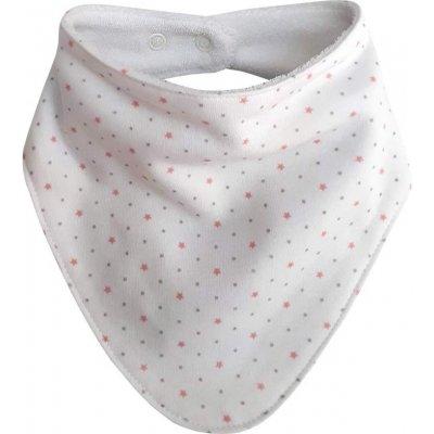 Esito šátek bavlna hvězdička růžová