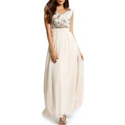 9f31f5037e33 Dlouhé společenské šaty Little Mistress gold creme alternativy ...