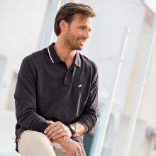 Blancheporte Polo tričko s dlouhými rukávy antracitová