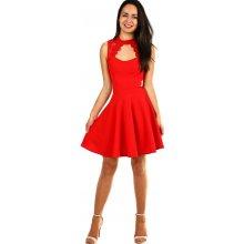 Áčkové společenské šaty na ples červená 2555677bc6