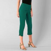 471f347d6 Blancheporte 3/4 ultra strečové kalhoty zelená