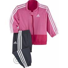 Adidas Dětská souprava I J 3S WV JOGGE růžová černá bílá Z29853