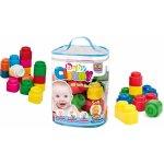 Clemmy baby 48 barevných kostek v plastovém pytli