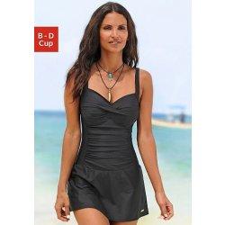 Lascana Plavkové šaty s řasením černá 0363f49c04