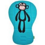 PINKIE Podložka s bočnicemi Opička Tyrkys