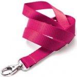 Idsys Šňůrka na krk pevná textilie - růžová