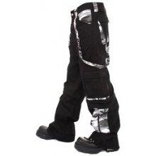 Metalové kalhoty pánské dlouhé maskáčové bílé