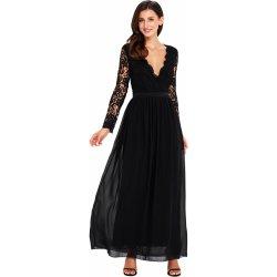 9743c304062 Společenské šaty dlouhé s krajkovým živůtkem černá alternativy ...