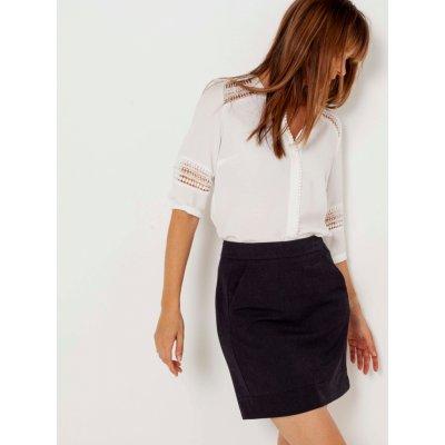 Camaieu sukně s kapsami černá
