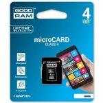 Goodram microSD 4GB + adaptér M40A-0040R11