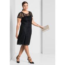 sheego Style koktejlové šaty černá c3ffae1eb57