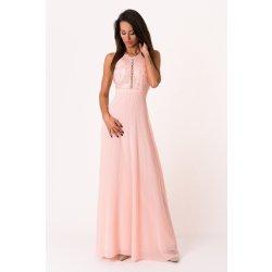 Eva   Lola dámské společenské šaty bez rukávů dlouhé růžová ... 642c5a7058