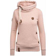 Naketano Darth pastelově růžová mikina s kapucí 3843574b38