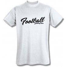 Style T Shirt Football Bílá