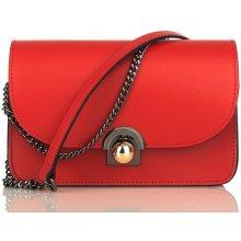 kožená kabelka Maura červená