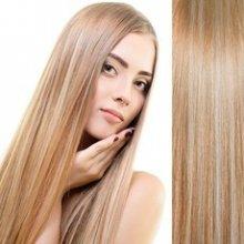Clip in vlasy - sada de-luxe, 57 cm, odstín 18/613 - melír