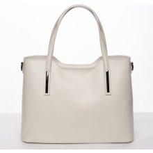 5c97e50464 luxusní dámská kožená kabelka Gizela béžová
