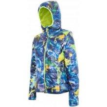 4F KUD006 Allover dámská zimní bunda print modrá