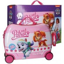 Joummabags Dětský MAXI kufřík Paw Patrol Pups Pink ABS plast, objem 34 l