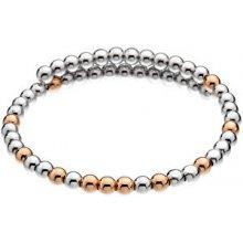 Hot Diamonds Ocelový náramek s bronzovými korálky Emozioni Wrap DC153