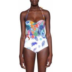 2f9ca3e96de Desigual Emmy jednodílné plavky s tropickými motivy bílá alternativy ...