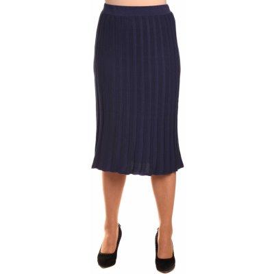 M9857 dámská úpletová sukně plisé modrá