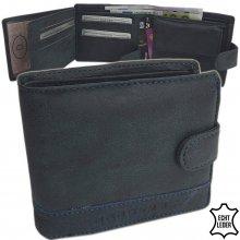 Harold's peněženka pánská kožená modrá F118511 blau