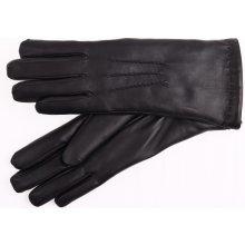 2894b11c783 ND dámské kožené rukavice zateplené kožešinou 4168 černé
