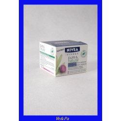NIVEA VISAGE Pure & Natural noční krém proti vráskám 50 ml