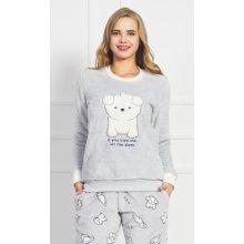 421119b54770 Vienetta Secret Štěně dámské pyžamo dlouhé šedá
