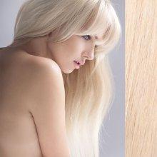 Clip in vlasy 45 cm lidské – Remy 70 g - odstín 60 - platinová blond 39bfc1cb76e