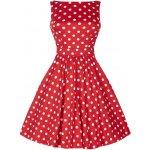 Lady V London šaty s bílými puntíky Tea červená 3806996aac