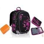 Školní batoh CHI 709 A black + penál CHI 728 + Topgal