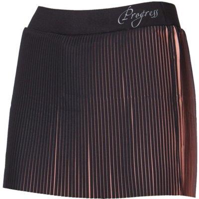 Progress LAMELLA sportovní běžecká sukně 2v1 černá/lososová