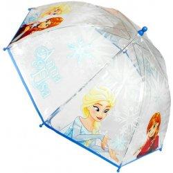 Disney Brand Dětský deštník Frozen Elsa a Anna průhledný