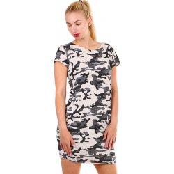 91fe56937259 Krátké dámské šaty s army vzorem 330288 béžová od 625 Kč - Heureka.cz