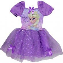 E plus M Dívčí šaty Frozen fialové